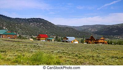 Beautiful mountain village in Utah