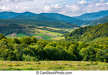 calm and relaxing scene - beautiful mountainous countryside....