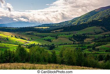 beautiful mountainous countryside on a cloudy day. wonderful...