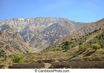 Beautiful mountains and rocks of Uzbekistan, landscape