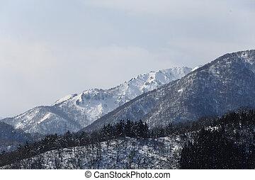 Beautiful mountains in winter, Takayama; Japan