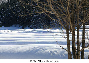 Beautiful mountains in winter,  Takayama;Japan