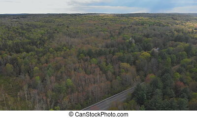 Beautiful mountains landscape in Pocono Mountains...