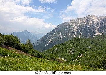 Beautiful mountains - landscape taken in Julian Alps, Italy