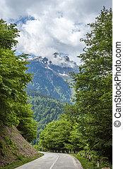 Beautiful mountains of svaneti, mountainous region of Georgia.