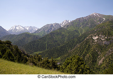 Beautiful mountains of Tien Shan