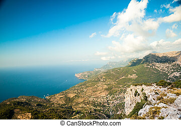 Beautiful mountains on the western part of Mallorca island,...
