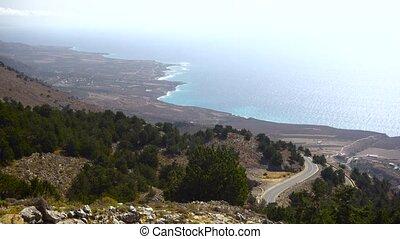 beautiful mountains panorama - mountains in Greece Crete...