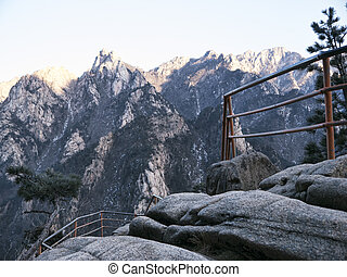 Beautiful mountains peak, Seoraksan National Park, South Korea
