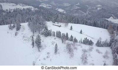 Beautiful mountains range in snowy winter - Picturesque view...