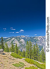 Beautiful Mountains Shot from High Poing in Yosemite National Park in California. HDR Image