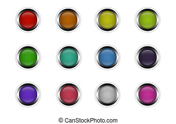 buttons - beautiful multi-colored buttons isolated on white ...