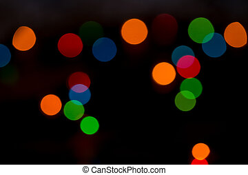 beautiful multi-colored defocused abstract lights christmas background