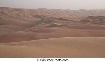Beautiful multi-colored dunes in Rub al Khali desert United...