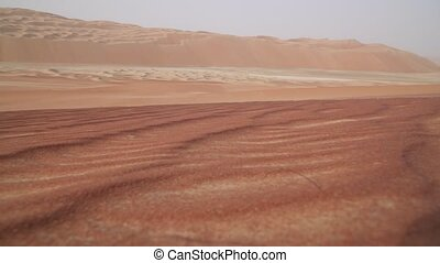 Beautiful multi-colored dunes in Rub al Khali desert United Arab Emirates stock footage video