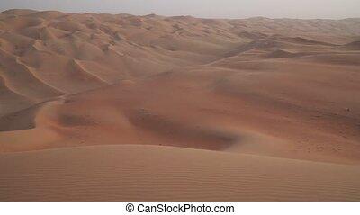 Beautiful multi-colored dunes in Rub al Khali desert United Arab Emirates stock footage video