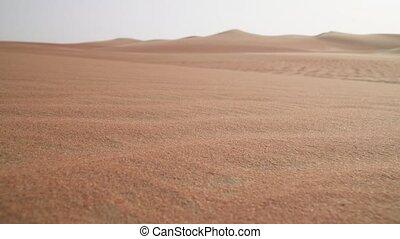 Beautiful multi-colored sand in Rub al Khali desert United Arab Emirates stock footage video