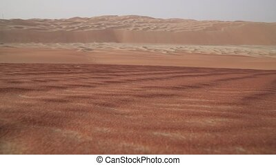 Beautiful multi-colored sand in Rub al Khali desert United Arab Emirates stock footage video
