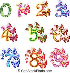 Beautiful multi-coloured numbers wi
