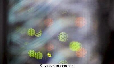Beautiful multicolored bokeh blink lights. Blurred ...