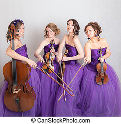beautiful musical quartet