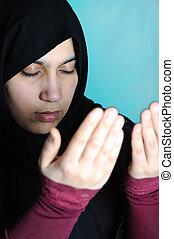 Beautiful Muslim religious girl