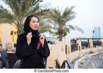 Beautiful muslim woman in hijab