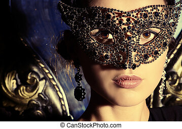 beautiful mystery - Close-up portrait of a beautiful woman...