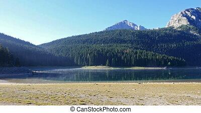 Beautiful mystical Black Lake, Durmitor National Park....