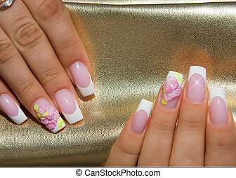 Beautiful nails with Art - Female hands, nails with ...