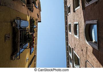 Beautiful narrow italian street