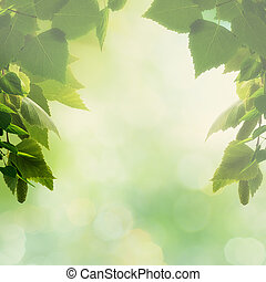 Beautiful natural backgrounds with foliage and copy space for your design
