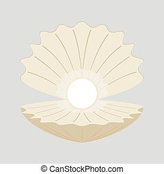 Beautiful natural open pearl
