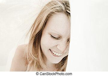 Beautiful, natural woman portrait