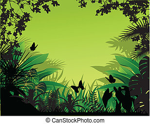 Beautiful nature background - Vector illustration of...