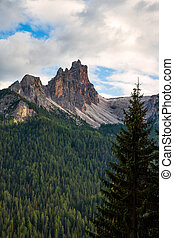 Beautiful nature in the Dolomites mountains in Northern Italy