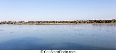 Beautiful nature on the river Syr Darya. Kazakhstan