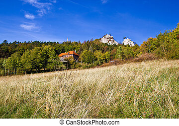 Beautiful nature scenery of Kalnik mountain with mountain...