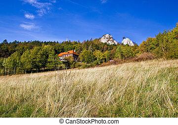 Beautiful nature scenery of Kalnik mountain with mountain...