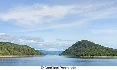 Beautiful nature view of dam