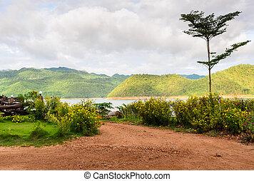 Beautiful nature view of Srinakarin dam