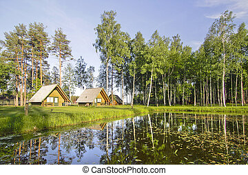 Beautiful nature view with houses