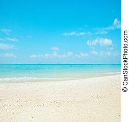 Beautiful nautical landscape - asian beach, white sand