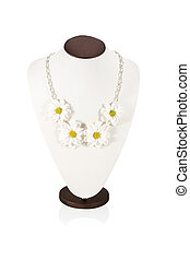 Beautiful necklace handmade on bust - Necklace handmade with...