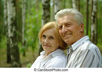 Beautiful nice senior couple