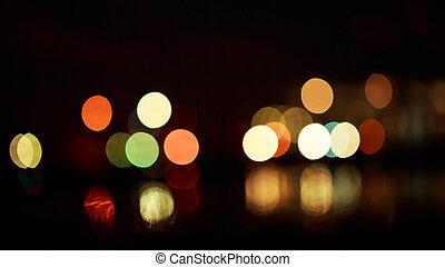 Beautiful night bokeh