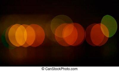 Beautiful night bokeh. Colorful abstract bokeh on a dark...