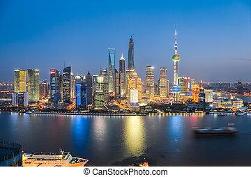 beautiful night in shanghai