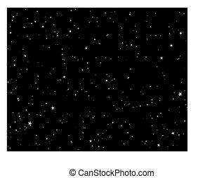 night starry sky - Beautiful night starry sky background ....