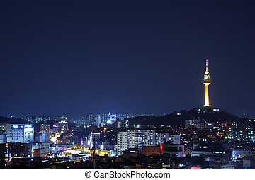 Beautiful night view in South Korea,Daegu Observatory